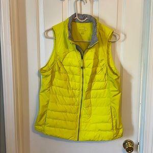 Tangerine yellow vest